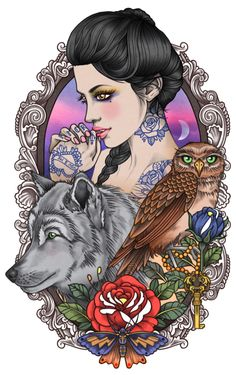 """Me perguntaram: """"por que você gosta de tatuar mulheres?"""" Porque elas me representam, não só por serem do mesmo sexo que eu, mas porque cada mulher que coloco na minha pele representa uma parte de mim, uma fraqueza minha ou felicidade..."""