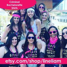 Criminal bridesmaid,bridesmaid shirts, bridesmaid tanks, funny bridesmaid shirts, funny bridesmaid tanks, team bride shirts, wedding