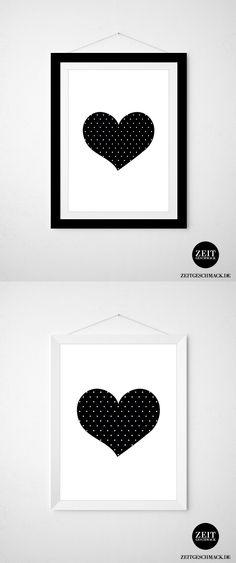 Wanddeko: Herz Poster, Kunstdruck // home accesoire: heart poster, art print via DaWanda.com