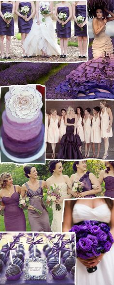 """Acai"" Purple is One Of Pantone's 10 Fabulous Colors for Fall Weddings. Bridesmaid dresses, cakes, bouquets, etc."