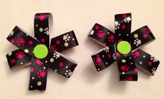 Dog Paw Hairbows 2 by TheGreenDaisyAHA on Etsy