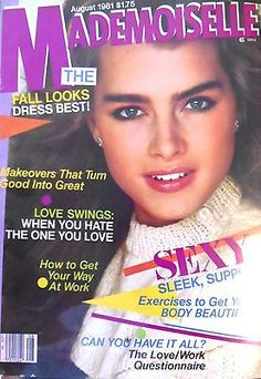Brooke Shields Covers Mademoiselle USA -August 1981
