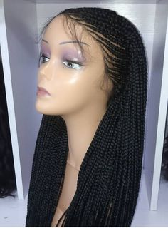 Cornrow Braided Wig/ Ghana Weave/ Senegalese Twists Wig/ Lace | Etsy