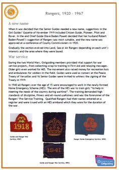 Rangers, From Girlguiding Scotland - series of posters for Senior Section Spectacular depicting uniforms through the ages