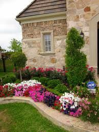Flowers help to enhance curb appeal