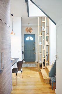 optimisation dune entre et dune cuisine claustra bois escalier bois et