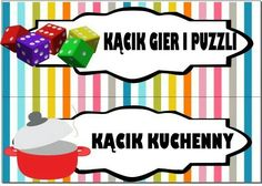 Kącik gier i puzzli i kącik kuchenny Kids Education, Montessori, Playroom, Disney Characters, Fictional Characters, Kindergarten, Preschool, Family Guy, Clip Art