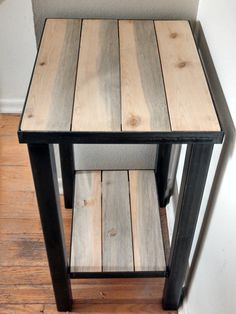 Metal Framed Industrial Style End Table Hand by BoulderBearDesign - $199