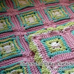 Sweetest Baby Blanket - free pattern with photo tutorial! #crochet ❥Teresa Restegui http://www.pinterest.com/teretegui/❥