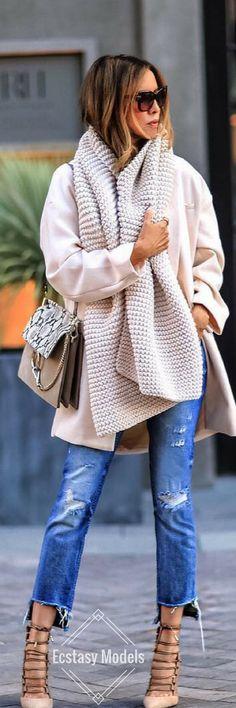 Winter Whites // Fashion Look by Sasha Simon