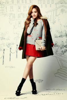 Jessica Jung Sooyeon of Girls' Generation for SOUP Jessica Jung, Jessica & Krystal, Krystal Jung, Kpop Fashion, Korean Fashion, Fashion Outfits, Snsd, Korean Girl, Asian Girl