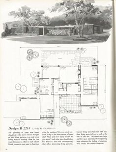 vintage house plans mid century homes 1960s homes - Mid Century Modern Home Plans