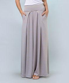 Love this Mocha Stripe Maxi Skirt - Plus Too on #zulily! #zulilyfinds