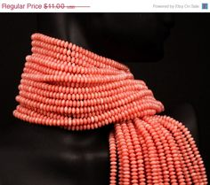 coral salmon beads
