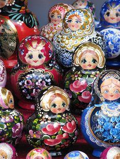 Matryoshka Dolls (Nesting Dolls) I Am Obsessed With Getting A Set Of Nesting  Dolls