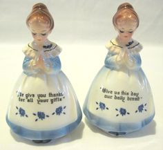 Vintage Japanese Praying Girls Salt and Pepper by PoetCharms