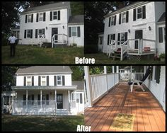 #LongFence | Before & After | #FrontPorch #Decks