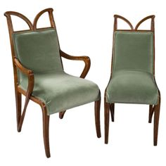For the round table, I will have in adjoining dining room ;)      1stdibs - French Art Nouveau Suite of Chairs by Majorelle explore items from 1,700  global dealers at 1stdibs.com