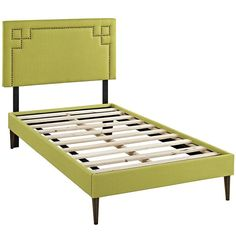 Modway Furniture Modern Josie Twin Fabric Platform Bed with Round Tapered Legs
