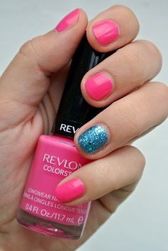 Pink Nails Revlon.  Dont need long nails when short nails are just as nice! Love pink too!
