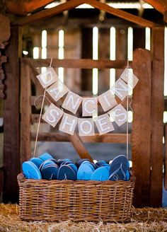 7. Put On Your Dancing Shoes. Beach wedding? Garden party? Be sure to set up a flip-flop station so your guests can dance comfortably all night long.