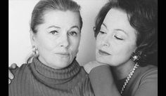 Joan Fontaine and Olivia de Havilland (a very rare photo of them being together)