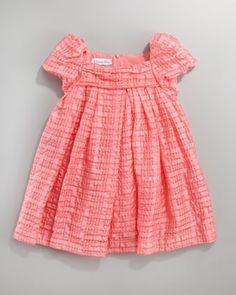 Baby Dior Plisse Organza Dress - Bergdorf Goodman