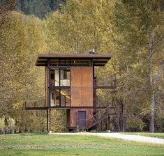 Delta Shelter - Northern Washington.  Not for rent but super cool.  Those walls slide shut for the winter months.