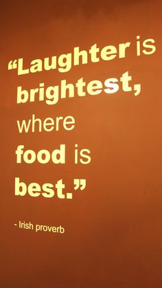 """Laughter is the brightest where food is best"" -- Is your home a place of laughter and good food? www.ortega.com"