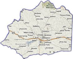 Wilkes County - NC Map