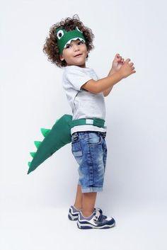 Alligator Birthday Parties, Dinosaur Birthday Cakes, Dinosaur Party, Diy Birthday, Diy Baby Costumes, Holiday Costumes, Fantasia Diy, Crocodile Costume, Dinosaur Costume