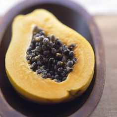 """13 Best Foods for Crohn's Disease:: * Papaya * People with Crohn's may think they should avoid fruit, but even during a flare, tropical fruits like bananas are an easy-to-digest, nutritious option.   """"Mango and papaya are super-high in nutrients and very, very easy to digest,"""" Dalessandro says.  Papaya contains an enzyme, papain, which helps your body digest proteins; this butter-soft fruit is also rich in vitamin C, vitamin A, folate and potassium, available year-round. Cantaloupe is also…"""