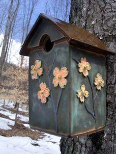 www.abbydreyer.com ceramic birdhouse- SOLD