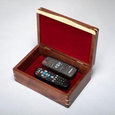 Wood Mens Box Keepsake Box Treasure Box Walnut with Walnut