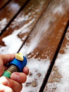 21 Ways to Upgrade Your Deck: Clean, Repair, and Stain It. Need to do this to my deck this summer! Deck Repair, Home Repair, Outdoor Projects, Home Projects, Outdoor Decor, Outdoor Living, Deck Maintenance, Decks And Porches, Diy Home Improvement