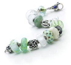 Snow Drops Troll Beads Bracelet