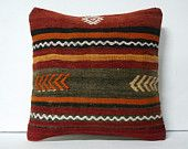 """16""""traditional bedding old turkish cushion throw pillow kilim pillow decorative pillow cover accent pillow outdoor floor sham bohemian decor"""