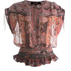 Isabel Marant Paisley-print gathered waist blouse ($740) ❤ liked on Polyvore