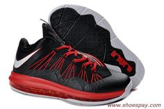 pretty nice 976e5 48a81 Authentic Black Total Crimson 2013 Nike Air Max Lebron 10 Low 579765-001  Kevin Durant