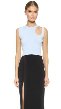 Mugler Sleeveless Crop Top