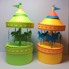 Carousel Box Free Papercraft Template Download - http://www.papercraftsquare.com/carousel-box-free-papercraft-template-download.html#Carousel, #MerryGoRound, #StepByStep