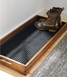 diy furniture Find the best Everyspace Recycled Waterhog Boot Mat at . Our high quality home goods are designed to help turn any space into an outdoor-inspired retreat. Home Organization, Home Storage Ideas, Organizing Ideas, Diy Storage Projects, Woodworking Organization, Storage Solutions, Sweet Home, New Homes, Boot Tray