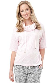 Ripe Maternity Zen Cowl Neck Lounge Top Pink XLarge *** You can get more details by clicking on the image. Maternity Shops, Stylish Maternity, Maternity Fashion, Maternity Sweater, Nursing Tops, Pregnancy Shirts, Fashion 101, Sweater Jacket, Cowl Neck
