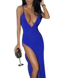 Women's Sexy Nightclub Split Deep V Tight Package Hip Dress >>> Learn more by visiting the image link. (This is an affiliate link and I receive a commission for the sales)