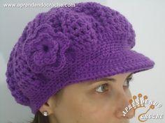 40 New Ideas For Crochet Hat Free Pattern Beret Bonnet Crochet, Crochet Beret, Crochet Cap, Love Crochet, Easy Crochet, Crochet Stitches, Knitted Hats, Crochet Patterns, Crochet Hat Tutorial
