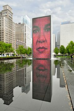 http://www.printedart.com/content/faces-chicago    Richard Silver: Faces of Chicago    Available with acrylic finish for a float-on-the-wall display in sizes up to 60 x 90 inches.    Faces of Chicago water outdoor art.
