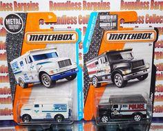 MATCHBOX  LOT OF 2 INTERNATIONAL ARMORED CARS BLACK WHITE ADVENTURE CITY VHTF #MATCHBOX #INTERNATIONAL