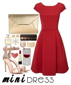 """""""Holiday Party"""" by anniem956 ❤ liked on Polyvore featuring Dolce&Gabbana, Gianvito Rossi, Phase Eight, MICHAEL Michael Kors, Wet Seal, Chanel, Charlotte Russe, Carolee, John Lewis and Too Faced Cosmetics"""