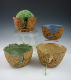 Coil-built Pottery Yarn Bowl by Ann Marie Cooper