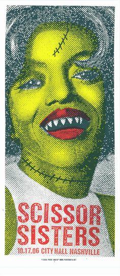 Scissor Sisters, Poster Art, Concert Poster.